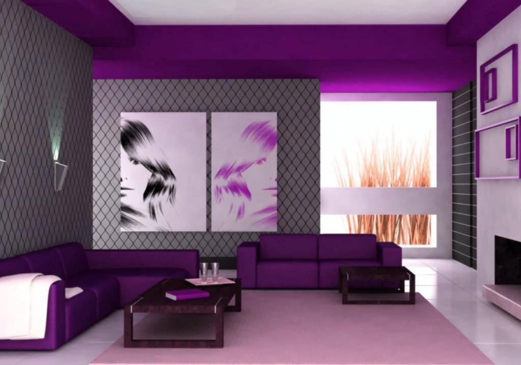 Warna Dinding Yang Tepat Untuk Rumah Tipe 36 warna ungu