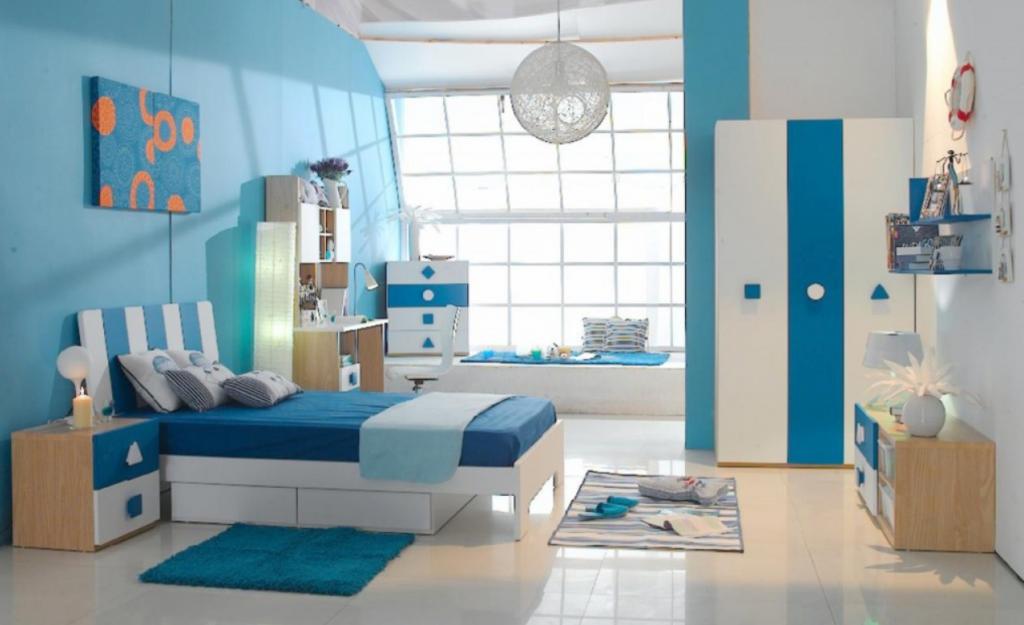 Warna Dinding Yang Tepat Untuk Rumah Tipe 36 warna biru
