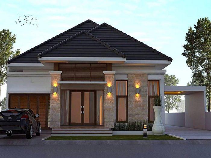 desain rumah dengan batu alam