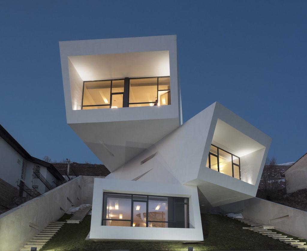 desain rumah minimalis futuristik