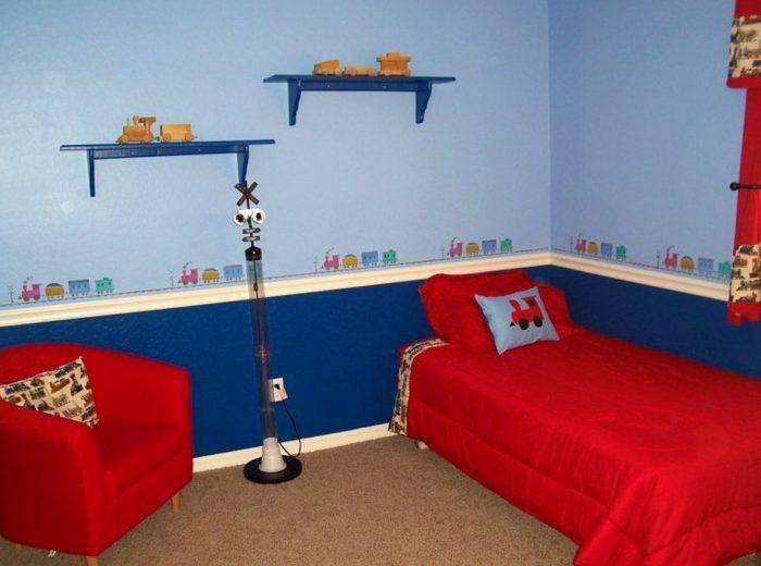 Desain Interior kamar anak tema kereta