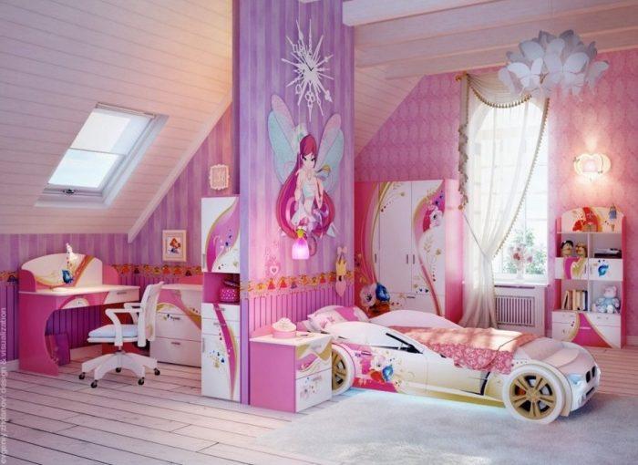 Desain Interior kamar anak tema peri
