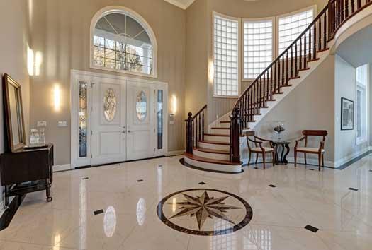 mempercantik tampilan rumah dengan lantai marmer